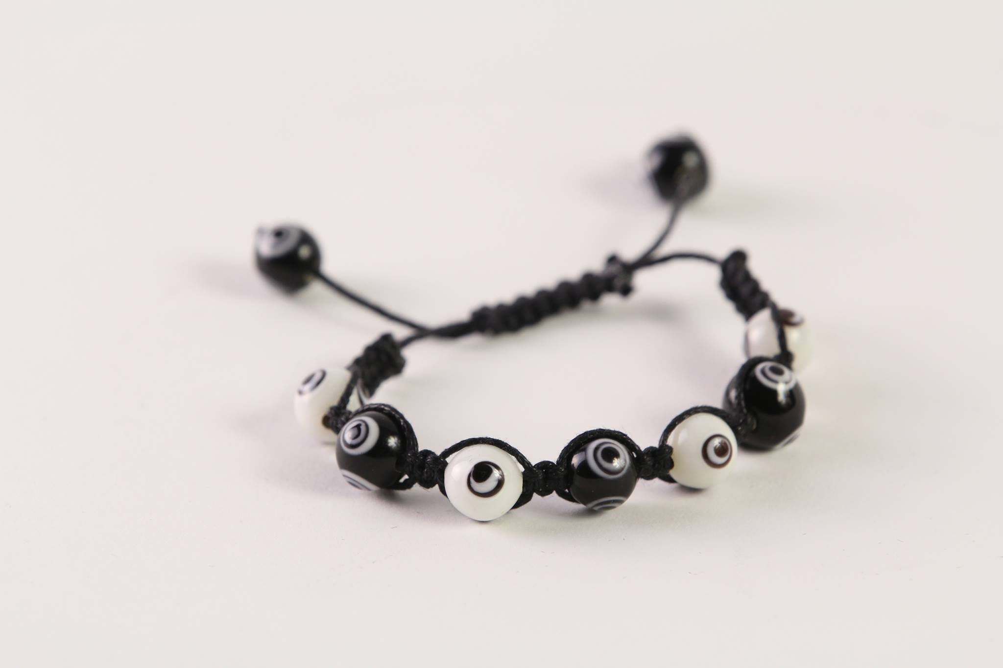 Black-White Evil Eye Bracelet