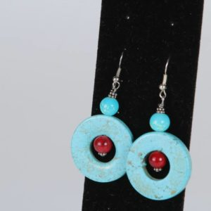 Blue Tibetan Earrings