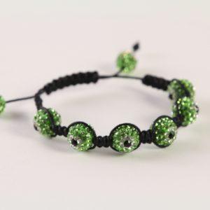 Green Evil Eye Shamballa Bracelet
