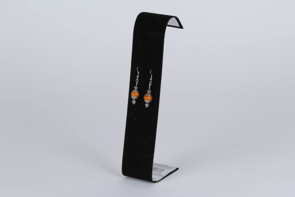 Orange Tibetan Earrings