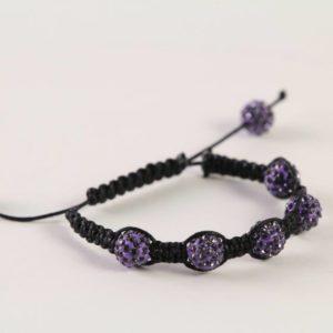 Purple Shamballa Bracelet
