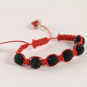 Red-Black Shamballa Bracelet