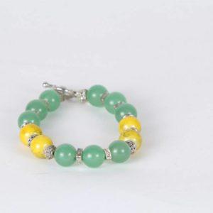 Yellow-Green Beads Bracelet
